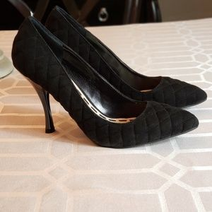 Enzo Angiolini  black quilted heels